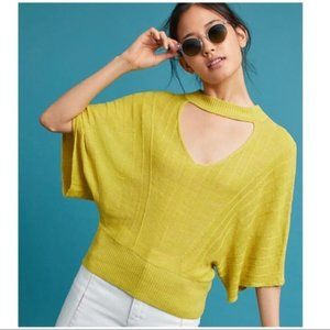 Anthro Knitted & Knotted Lime Esti Pullover Sz S